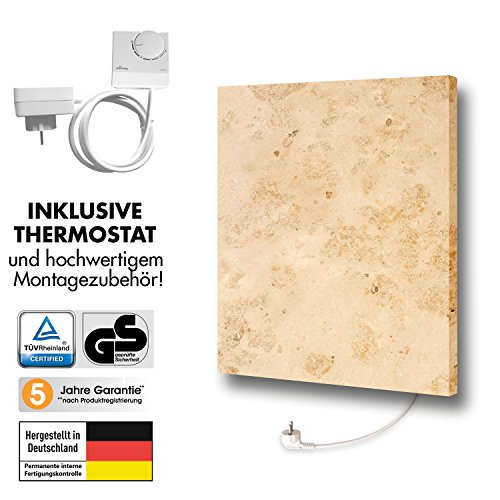 Marmony M500-0066 Jura mit Thermostat Marmor Infrarot-Heizung