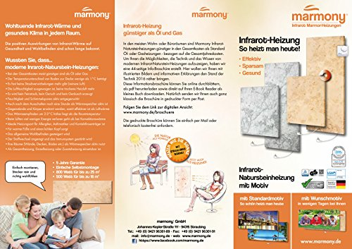 Marmony M500-0066 Jura mit Thermostat Marmor Infrarot-Heizung - 7