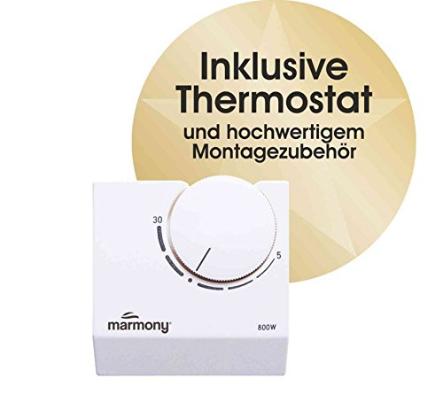 Marmony M500-0066 Jura mit Thermostat Marmor Infrarot-Heizung - 8